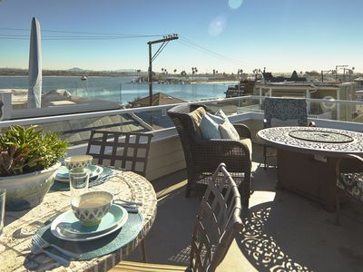 Photo for BAYSIDE WITH ROOFTOP DECK! BAY AND OCEAN VIEWS. WALK TO EVERYTHING.