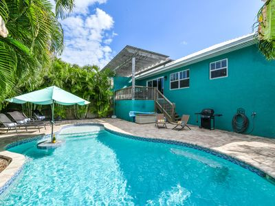 Photo for Charming Cottage, one block off beach with a private pool and gorgeous backyard!