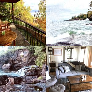 Photo for Rustic Chic Large Condo On Lake Superior Rocky Shores Minutes to Lutsen Skiing