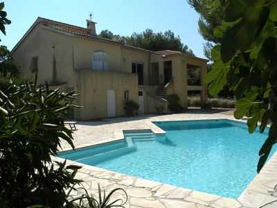 Photo for Le Brusc: Villa with pool in Mediterranean garden