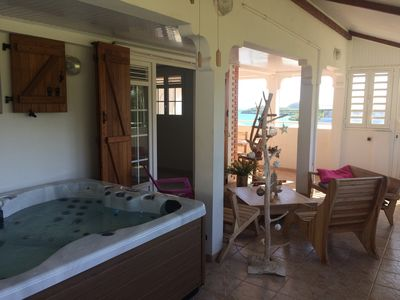 Photo for Bottom of villa, sea view, terrace, Jacuzzi in Vauclin.