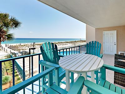 Photo for Surfside Shores 1203 - 2nd floor Gulf-Front Summer Dates Available