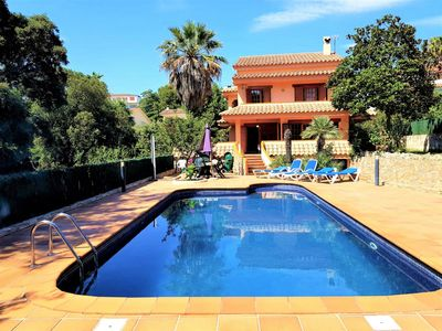 Photo for Villa with private pool 100 meters from Fenals beach