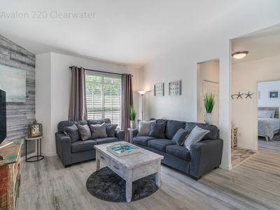 Clearwater Beach, Florida, modern fully renovated 2nd floor condo, heated pool