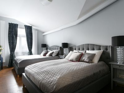 Photo for STOCKHOLM Quiet | 3min to Square 4 bed | 2 bath apt | lift