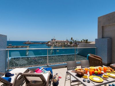 Photo for Mogan Terrace Sea Views apartment in Gran Canaria with WiFi, air conditioning, private parking, pri…