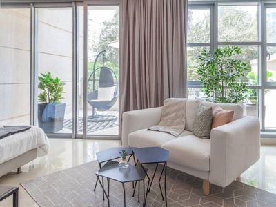 Photo for Urban Chic Condo with Large Terrace by the Burj