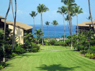 Photo for Beautiful Ocean/Sunset Views from Living Room Lanai, Lovely Garden, Walk to Town