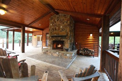 Mountain Rock Fireplace