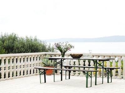 Photo for Holiday apartment with sea view 80 m from the beach