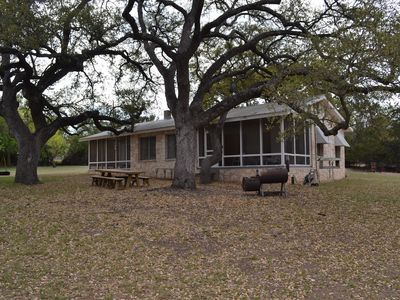 Photo for Guadalupe riverfront wooded Hill Country acreage located in Downtown Hunt, TX