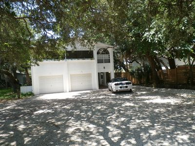 Front of House, Large Shaded Off Street Parking Area