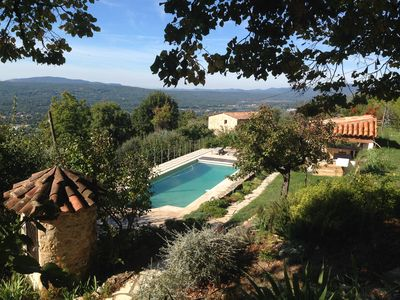 Photo for Annex of traditional Provencal stone farmhouse with lovely views.