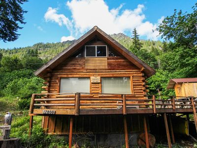 Photo for Cozy, dog-friendly cabin w/ a great deck, partial lake views, & beach access