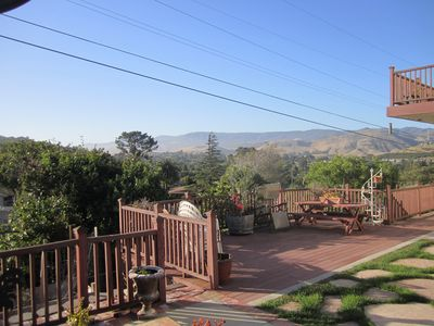Views toward Cal Poly from deck