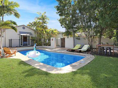 Photo for Contemporary Beach House, private pool, air-con, fireplace, pet-friendly