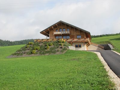 Photo for Chalet with character, 10 persons, near ski slopes, stunning views