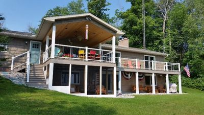 Lakehouse View from Lake! LL Screened-In-Porch  has Picnic Table & More Seating!