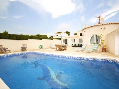 Photo for Stunning private villa with private pool, WIFI, A/C, TV, washing machine and parking