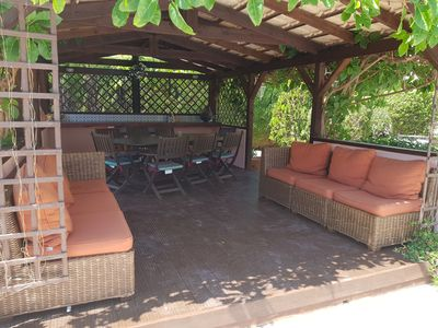 Photo for Private and spacious family villa with fabulous pool terrace and summer house