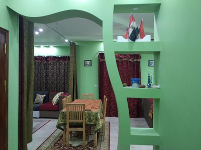 Photo for A modern apartment on the 4th floor with lift.  We are very near to the pyramids
