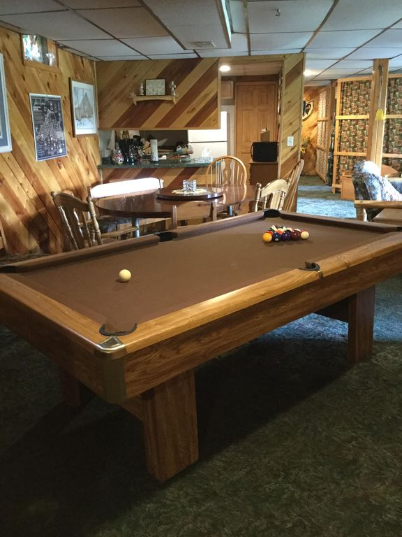 kitchen island pool table lighting dining complete hells bumper