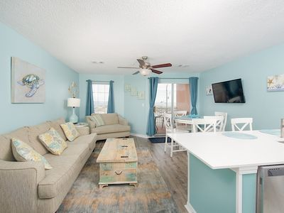 Photo for Inviting 1 BR Ocean View Condo w/ Pool & Hot Tub -- Walk 2 Minutes to Beach