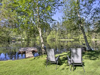 Photo for Quiet Lakefront Olympia Home w/Dock on ½ Acre