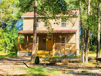 Photo for CABIN IN THE WOODS, just outside of Myrtle Beach and very close to CCU.