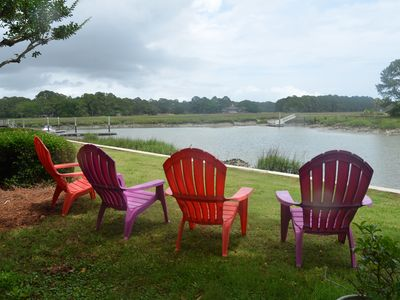 Photo for Pretty 3.5 bed townhome, gorgeous views of Braddock Cove.