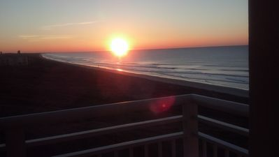 Oceanfront and views of easterly Kiawah vistas await. Sunrise picture 3/12/13.