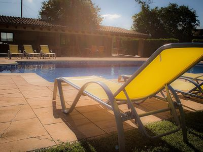 Photo for ELS CINGLES - Beautiful Farm house With big garden and heated pool