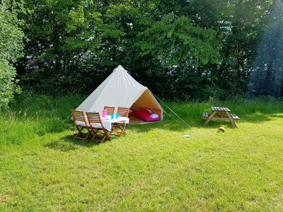 Photo for Glamping and Camping summer season large field sleeps 6 - 60 in own areas