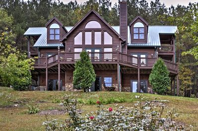 Get in touch with nature at this 4-bed, 3.5-bath Ellijay vacation rental cabin.