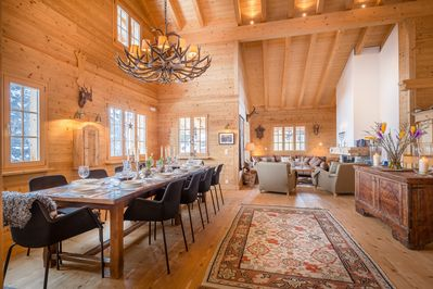 The entertaining and dining area can host 14 pax comfortably around the table