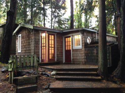 Photo for Oceanside Cottage in the Trees - stunningly private, yet so central!