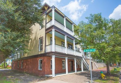 In Savannah the Street Level is considered the Garden Area and the second floor is the Main House.