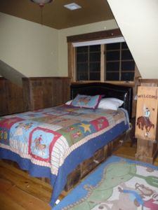 schoolhouse cowboy bedroom upstairs