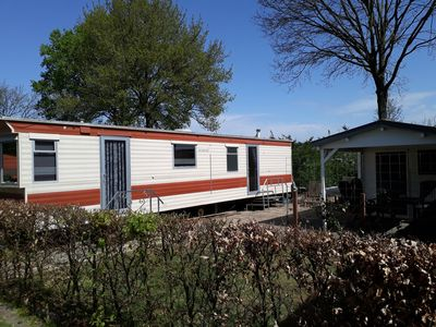 Photo for 4-6 person mobile home for rent incl wifi, swimming pool and swimming pond, entertainment