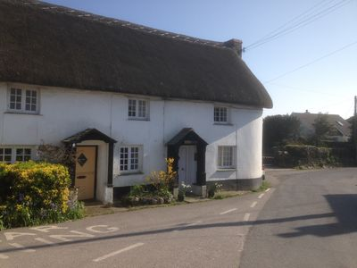 Photo for Thatched Cottage set in the heart of a quiet Cornish Village