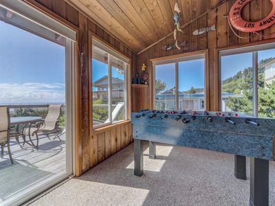 Photo for Beautiful Roads End Home with Ocean Views, Hot Tub, & Fire Pit