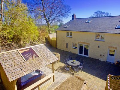 Photo for Character Welsh farmhouse with exposed beams and charming inglenook wood fire, generous grounds with