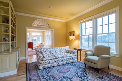 Enjoy the stunning living areas in this grand apartment, perfect for large groups!
