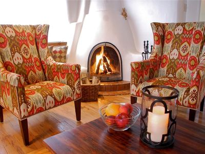 Photo for Two King Master Suites! Enchanting Adobe on Quiet Cul-De-Sac. Walk to the Plaza!