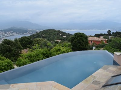 Photo for VILLA TUSCANY ON THE HEIGHTS AJACCIO VERY BEAUTIFUL VIEW