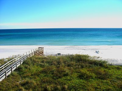 Just a few steps from our condo to the Gulf of Mexico at Destin West.