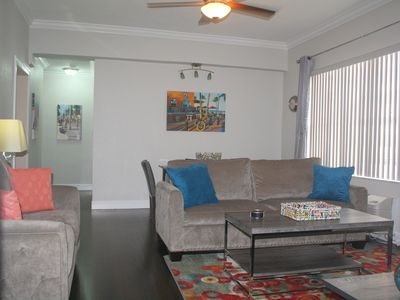 Photo for Upscale 1/1 Condo at Boardwalk, King bed, pool, free parking, private terrace