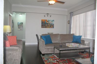 All New furniture with upgraded queen size sleeper sofa.