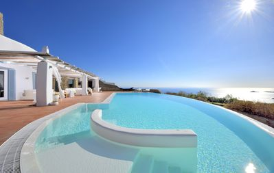 Photo for Infinity View and SUNSET Over Aegean Sea, PRIVCY & Security