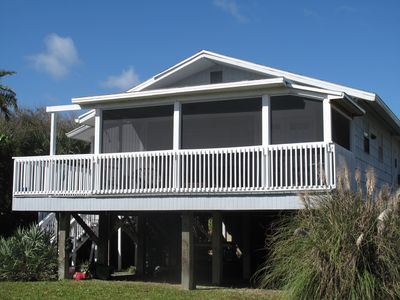 Photo for Captain's Quarters - Beach Bungalow with Screen Porch steps from the Ocean
